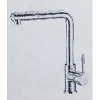 Смеситель HANSBERG  1001-1  для кухни с выдвижной лейкой